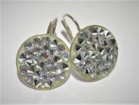 AG 925 Crystal Rocks Swarovski Crystal CAL 15mm